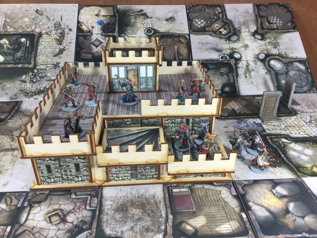 Zombicide 3d wulfsburg towers it 39 s art in part for Puertas 3d zombicide